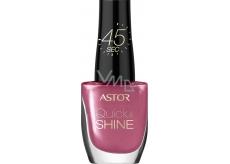 Astor Quick & Shine Nail Polish lak na nehty 204 Life In Pink 8 ml