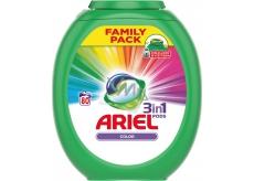 Ariel 3v1 Color gélové kapsule na farebnú bielizeň chráni a oživujú farby 80 x 27 g