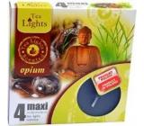 Tea Lights Opium čajová svíčka vonná Maxi 4 kusy