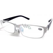 Berkeley Čtecí dioptrické brýle +1,5 plast bílé černé stranice 1 kus MC2062