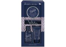 Baylis & Harding The Fuzzy Duck Ružový korenie a Agarwood šampón na fúzy 100 ml + pleťový umývací gél 50 ml + vosk na fúzy 50 ml + hrebeň, kozmetická sada pre mužov