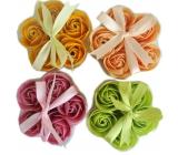 NeoCos Mydlová ruže konfety svetlo oranžovej 5 kusov x 3 g, darčekové balenie