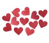 Srdce drevené červené 3,5 cm 12 kusov