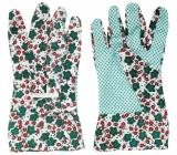 Spokar Rukavice pracovní zahradní květované s terčíky