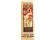 Bohemia Gifts & Cosmetics Alfons Mucha Med a obilia toaletné mydlo 125 g