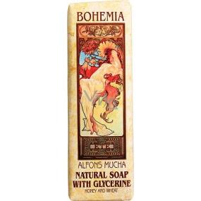 Bohemia Gifts & Cosmetics Alfons Mucha Med a obilí toaletní mýdlo 125 g