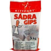 Kittfort Sadra Gips biela - modelárska 3 kg
