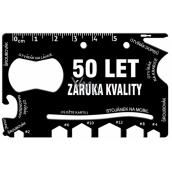 Albi Multináradie do peňaženky 50 Let záruka kvality 8,5 cm x 5,3 cm x 0,2 cm