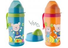 Rotho Babydesign Cool Friends 12+ měsíců nekapající láhev plastová - sosák s ventilkem 360 ml