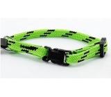 B & F Obojok Nylon zeleno-čierny 1,0 x 18 - 2 8 cm