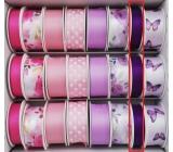 Ditipo Stuha vázací saténová tmavá fialová 4 m x 15 mm