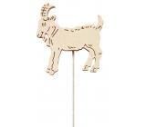 Koza drevená 8 cm biela + drôtik