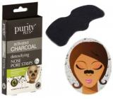 Purity Plus Activated Charcoal Aktívne čierne uhlie pásky na nos pre hĺbkové čistenie pleti 6 kusov