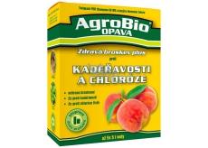 AgroBio Zdravá broskyňa Plus Champion 50 WG 2 x 20 g + Harmónia Železo 30 ml pre ošetrenie broskýň proti kučeravosti a chloróza listov, súprava dvoch produktov