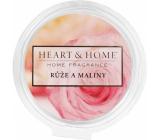 Heart & Home Ruže a maliny Sójový prírodné vonný vosk 26 g