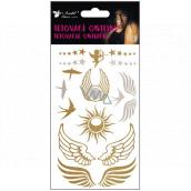 Tetovacie obtlačky zlaté a strieborné krídla a lastovičky 15 x 9 cm