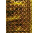 Nekupto Darčeková papierová taška hologram standart 10 x 33 cm Zlatá THLH