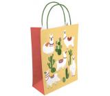 Nekupto Darčeková Kraftová taška 18 x 24 x 8 cm Lamy a kaktusy 523 KKM
