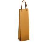 Ditipo Darčeková papierová taška na fľašu 12 x 9 x 39 cm EKO prírodná hnedá