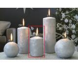 Lima Ľadová strieborná sviečka valec 70 x 100 mm 1 kus