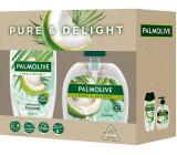 Palmolive Pure & Delight Coconut sprchový gél 250 ml + tekuté mydlo 300 ml, kozmetická sada