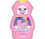 On Line Kids Limonáda 2v1 sprchový gel a šampon na vlasy pro děti 250 ml