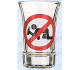 Nekupto Smích panák skleněný humorný WG 012 Zákaz konzumace 0,04 l