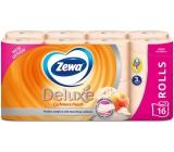 Zewa Deluxe Aqua Tube Cashmere Peach parfumovaný 3 vrstvový 150 útržkov 16 kusov, rolička, ktorú môžete spláchnuť