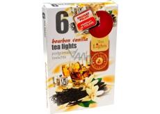 Tea Lights Bourbon Vanilla s vôňou bourbonu a vanilky vonné čajové sviečky 6 kusov