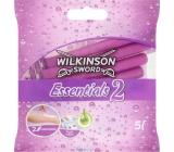 Wilkinson Essentials 2 jednorazový holiaci strojček 2 brity 5 kusov