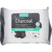 Beauty Formulas Charcoal Aktívne uhlie odličovacie obrúsky 25 kusov