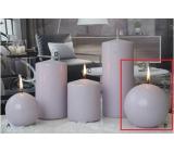 Lima Ice pastel sviečka svetlo fialová guľa 100 mm 1 kus