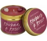 Bomb Cosmetics Rebarbora a ruže - Rhubarb & Rose Vonná prírodné, ručne vyrobená sviečka v plechovej dóze horí až 35 hodín