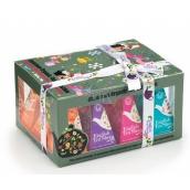 English Tea Shop Bio Vianočné ozdoby Mäta a Melón + Med a Melón + Korenená tekvica + Korenený aníz, 12 kusov pyramídiek sypaného čaju, 4 príchute, 24 g darčeková sada