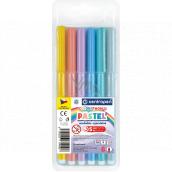 Centropen Colour World Pastel popisovače pastelové vyprateľné 1 mm 6 farieb