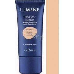Lumene Double Stay minerálny make-up 04 Peach Beige 30 ml