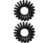 Vlasová gumička spirála plastová černá 3 x 1 cm 2 kusy