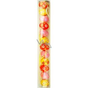 Plastová vejce s květinkami 4 cm v tubě 12 kusů