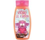 Bohemia Gifts & Cosmetics Příšerky Jahoda 2v1 sprchový gel a šampon pro děti 250 ml