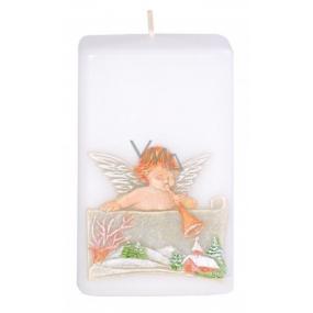 Candles Anjel s trumpetu vonná sviečka hranol 50 x 80 mm