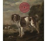 Bohemia Terč pes dekorační obraz 30 x 30 cm