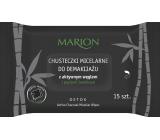 Marion Detox Active Charcoal micelární vlhčené odličovací ubrousky 15 kusů