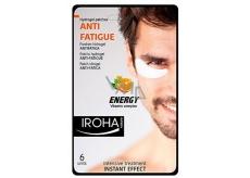 Iroha Anti-Fatigue Energy Hydrogelové polštářky pod unavené oči pro muže s vitamínovým komplexem 6 kusů
