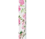 Nekupto Darčekový baliaci papier 70 x 150 cm biely ružové kvety 930 30
