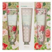 Heathcote & Ivory Flower Blooms Trellis vyživujúci krém na ruky a nechty 3 x 30 ml, kozmetická sada