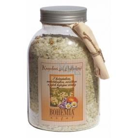 Bohemia Gifts & Cosmetics Heřmánek a mateřídouška a měsíček a jejich hojivými účinky koupelová sůl 1,2 kg