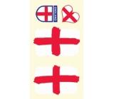 Arch Tetovací obtisky na obličej i tělo Anglická vlajka 1 motiv