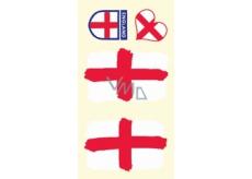 Arch Tetovací obtisky na obličej i tělo Anglie vlajka 1 motiv