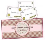 Bohemia Gifts & Cosmetics Karty splnených prianí pre babičku 20 kusov kariet