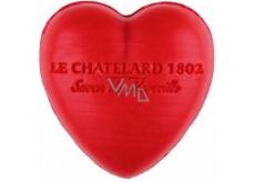 Le Chatelard 1802 Červené ovoce přírodní mýdlo ve tvaru srdce 25 g